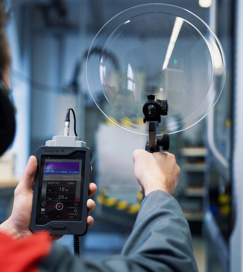 Parabolsensor BS30 – detektiert Leckagen über mehrere Meter Entfernung